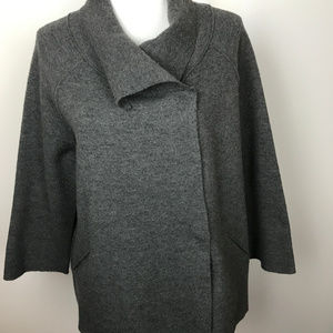Eileen Fisher Sz S Gray 100% Wool Jacket